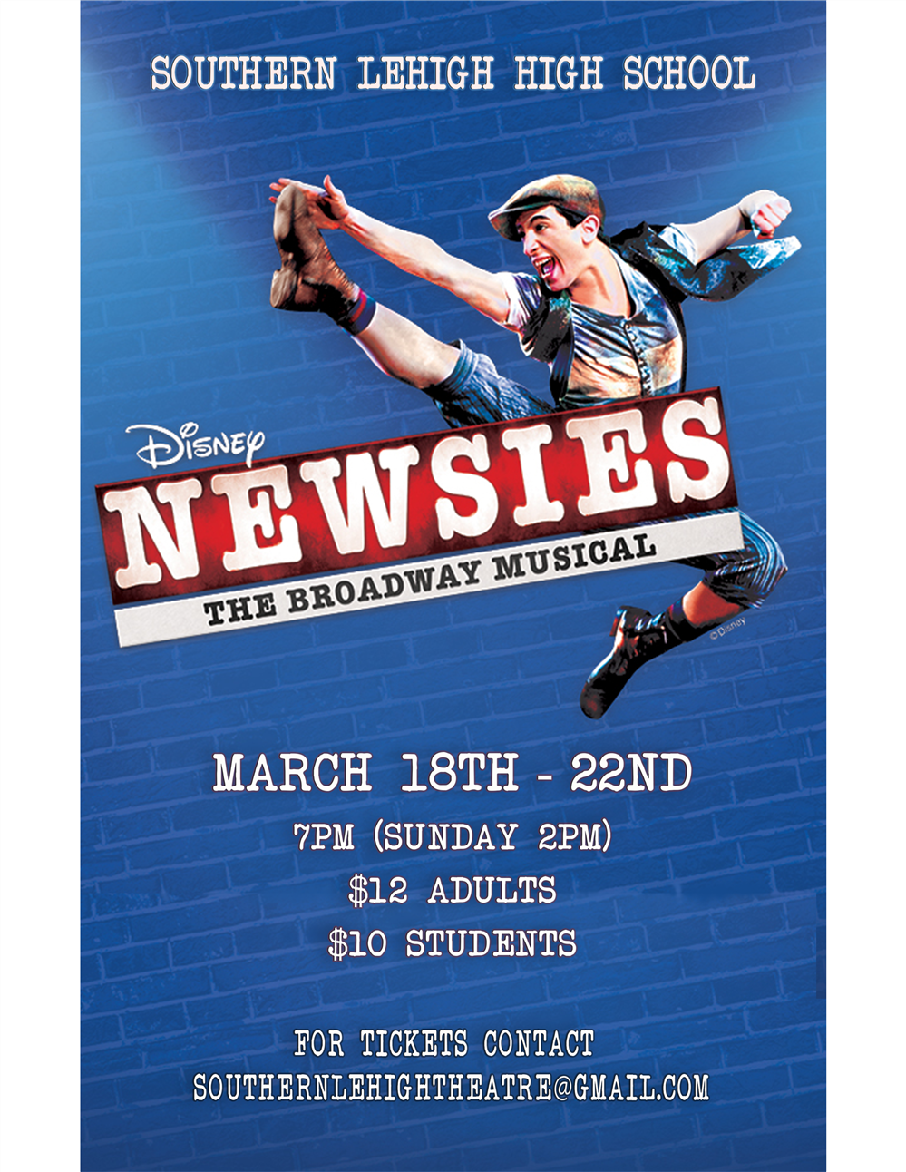 SLHS Newsies Poster